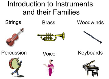 Smartboard Files - Music Instrument Families