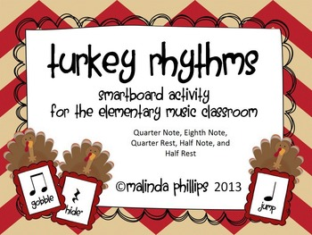 Smartboard: Five Fat Turkeys & Rhythms for the Kodaly or Orff Classroom