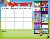 Smartboard Forever Calendar 'Owl Theme' Circle/Meeting/Carpet