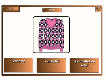 Smartboard:  French Vocab Flash Activity (Christmas, Animals, Weather etc)
