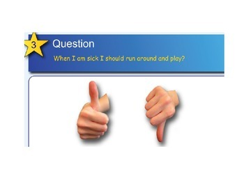 Smartboard Fun: Being Sick Questions & Doctor Tools Sort