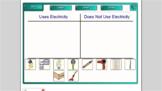 Smartboard Fun:  Electricity Smartboard Sort
