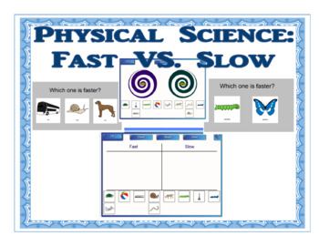 Smartboard Fun:  Learning About Motion (Fast VS. Slow)