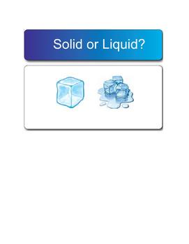 Smartboard Fun:  Sorting Solids & Liquids - Phases of Matter