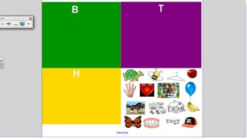 Smartboard Game: Initial Sounds Sort: B, T and H