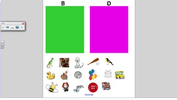 Smartboard Game: Initial Sounds Sort: B and D