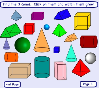 Smartboard Geometric Shapes Lesson I-Spot Review