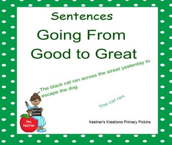 Stretching a Sentence Smartboard Going From Good to Great Sentences