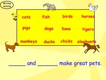 Suffix S: Nouns More Than One (Smartboard Grammar)