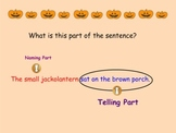 Telling Parts in a Sentence (Smartboard Grammar)