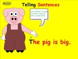Telling Sentences Using Periods (Smartboard Grammar)