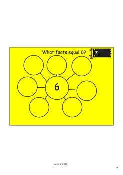 Smartboard Graphic Organizer for Addition Families