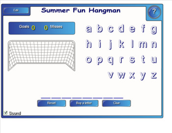 Smartboard Guess the Word Game