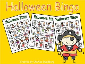 Smartboard Halloween Bingo and Student Cards
