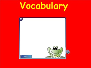Harcourt Trophies Reading Book 1: Guess Who Vocabulary Smartboard Activities