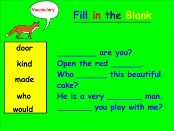 Harcourt Trophies Reading Book 3: Here and There Smartboard Vocabulary