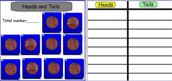 Smartboard: Heads and Tails Game