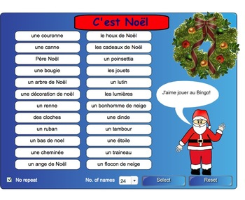 "Smartboard Interactive Christmas ""LOTO"" Game"