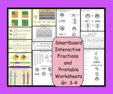 Smartboard Interactive Fractions and 7 Printables