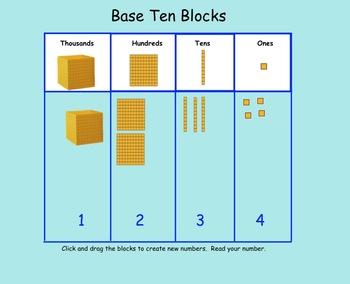 Smartboard Interactive Place Value Base Ten Blocks By