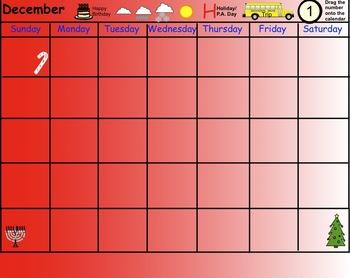 Smartboard: Interactive School Calendar (Sept-June)