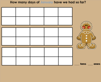 Smartboard January Calendar Math Activities