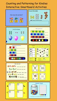 Interactive Smartboard Activities  Kindergarten Counting and Patterning