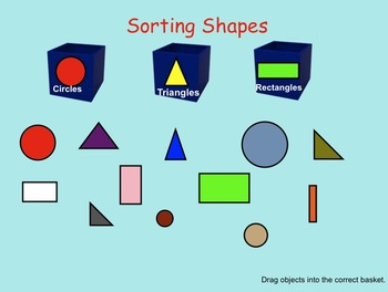 Smartboard:  Kindergarten Sorting (shapes, numbers) with flash