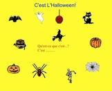 Smartboard:  L'Halloween Vocabulary with Mp3 Sound