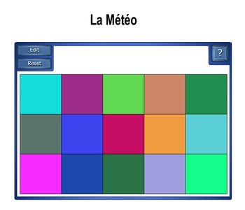 Smartboard:  La Météo Word Match Games