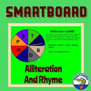 Smartboard Alliteration and Rhyme Games