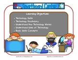 Smartboard Learning Center Sign~ With Objectives