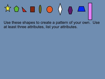 Smartboard Lesson:  Creating and Extending Patterns