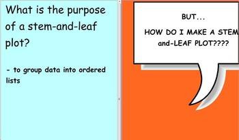 Smartboard Lesson: Stem and Leaf Plot Creation