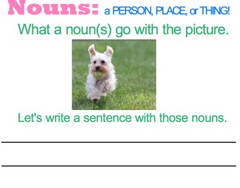 Smartboard Lesson for Introducing and Teaching Nouns