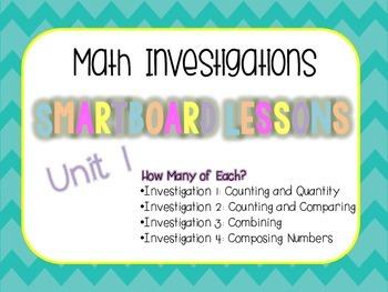 Smartboard Lessons for Unit 1 Math Investigations