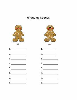 Smartboard Long vowel a pattern ai and ay