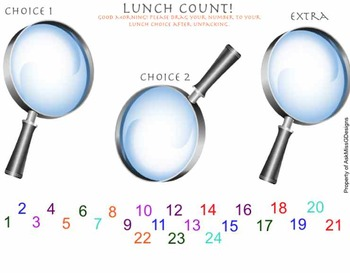 Smartboard Lunch Count