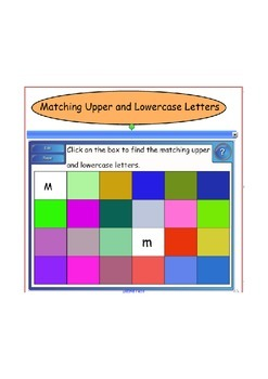 Smartboard: Matching upper and lowercase letters