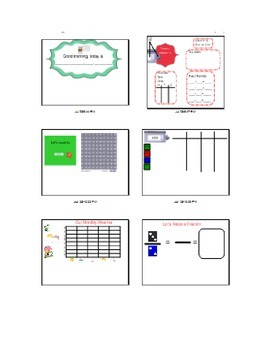 Smartboard Math Message, first and second grade