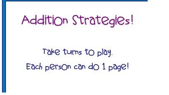Smartboard Math - Using different Addition Strategies Game - EDITABLE!