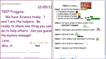 Smartboard Morning Messages for Weeks 13-26