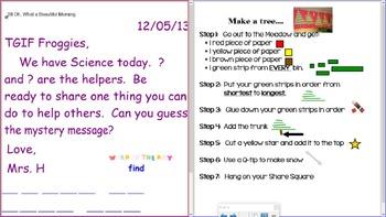 Smartboard Morning Messages for Weeks 27-39