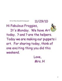 Smartboard Morning Messages for the first 12 weeks of the