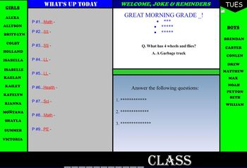Smartboard Morning Template