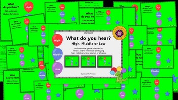 Smartboard: Music Melody – What do you hear: high, middle or low? (Bundle Set)
