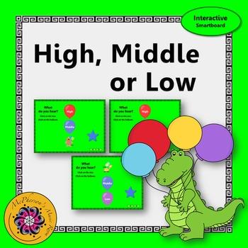 Music Melody - What do you hear: high, middle or low? {Sma