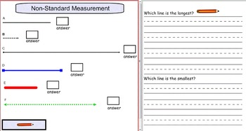 Smartboard: Non-Standard Measurement with questions