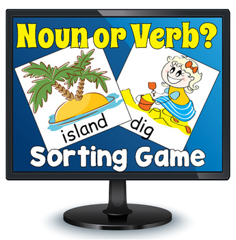 Smartboard Noun or Verb Sorting Game