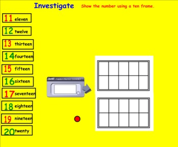 (Smartboard) Number Sense:Counting to 20